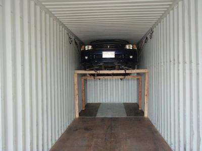 The loading of the container!